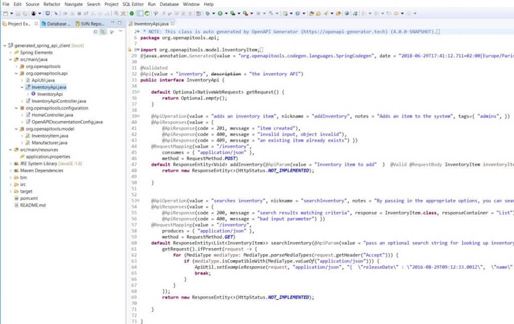 Swagger code generator