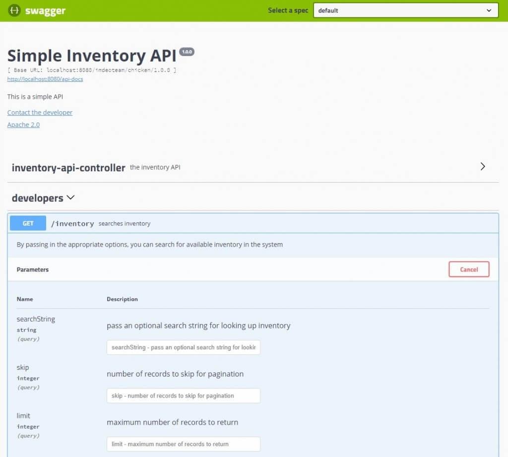 Swagger test API